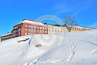 Helsinki. Winter rocky cityscape