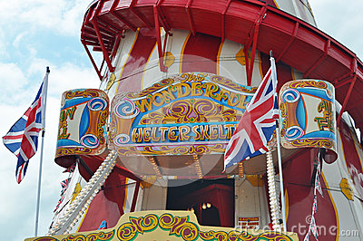 Helter Skelter fairground ride Editorial Photography