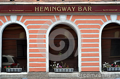 Hemingway bar in St. Petersburg Editorial Stock Image
