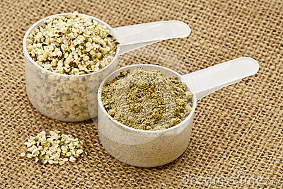 Hemp protein powder and seeds