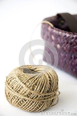Hemp rope with basket