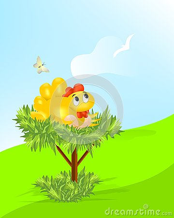 Hen with eggs, cdr vector