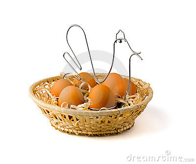 Hen on its nest