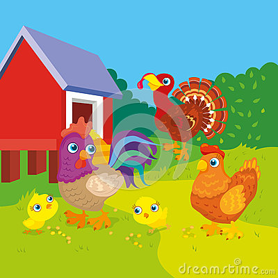 Free Hen With Rooster And Chickens Royalty Free Stock Image - 83626336