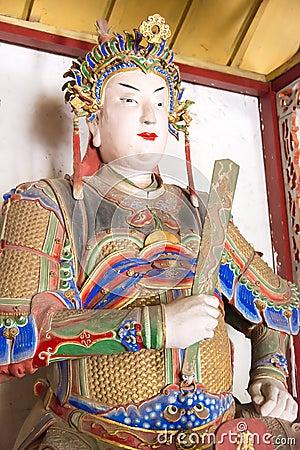 Free HENAN, CHINA - Oct 30 2015: Statue Of Zhuge Shang At Nanyang Memorial Temple Of Wuhou (Nanyang Wuhouci). A Famous Historic Site I Stock Photography - 90763342