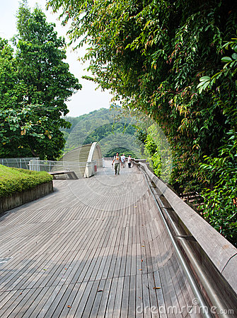 Free Henderson Waves Is The Highest Pedestrian Bridge In Singapore. Stock Images - 32829294