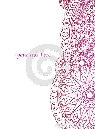 Free Henna Border Royalty Free Stock Image - 15243766