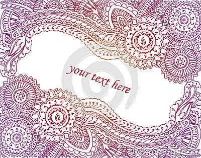 Henna Card
