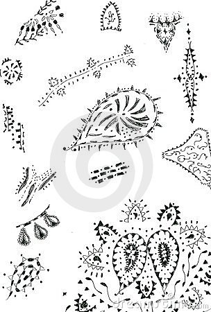 Henna Designs Royalty Free Stock Images - Image: 6241349