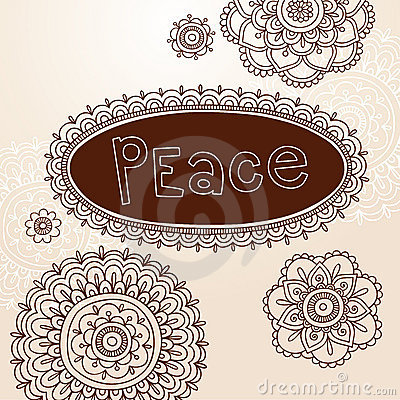 Henna Frame and Flower Doodle Vector Designs