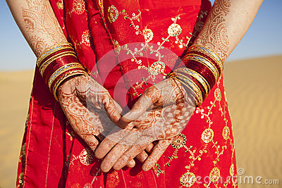Henna Hands and Bangles.