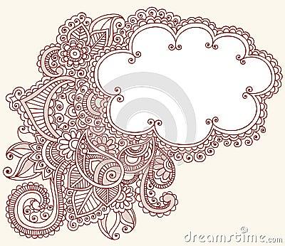 Henna Mehndi Paisley Cloud Doodle Design