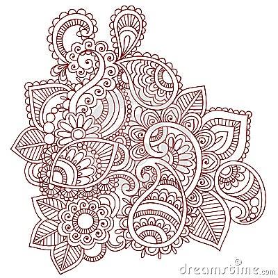 Henna Mehndi Paisley Doodle Design