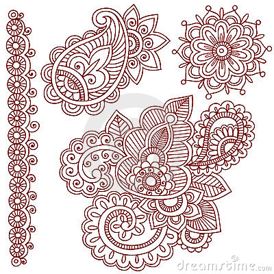 Free Henna Mehndi Paisley Doodles Royalty Free Stock Photo - 13380115