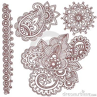 Henna Mehndi Paisley Doodles