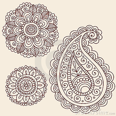 Free Henna Mehndi Paisley Flower Doodle Design Royalty Free Stock Photo - 14265885