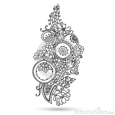 Pictures Of Mehndi Designs Black And White Kidskunst Info