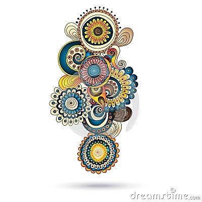Henna paisley mehndi doodles design element royalty free stock photos