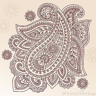 Free Henna Tattoo Flower Paisley Doodle Vector Design Royalty Free Stock Photography - 23810317