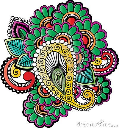 Henna tattoo motifs