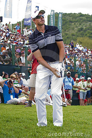 Henrik Stenson Chipping the Ball - NGC2009 Editorial Stock Photo