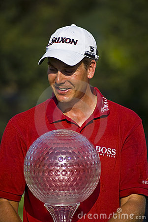 Henrik Stenson with Trophy - NGC2008