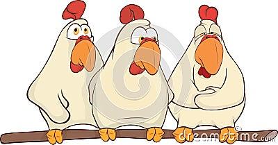 Hens cartoon