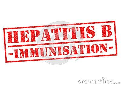 HEPATITIS B IMMUNISATION Stock Photo