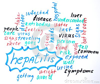 Hepatitis word cloud