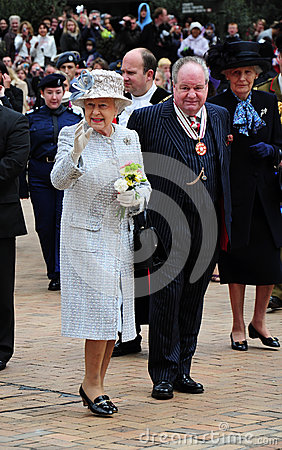 Her Majesty Queen Elizabeth II at Bromley Editorial Stock Photo