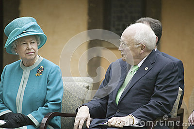 Her Majesty Queen Elizabeth II and Dick Cheney Editorial Photo