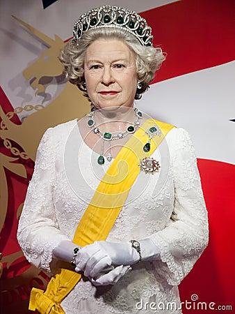 Free Her Majesty Queen Elizabeth II Wax Statue Royalty Free Stock Image - 28316906