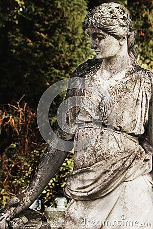 Het standbeeld van de godin Hera in Griekse mythologie, en Juno in R