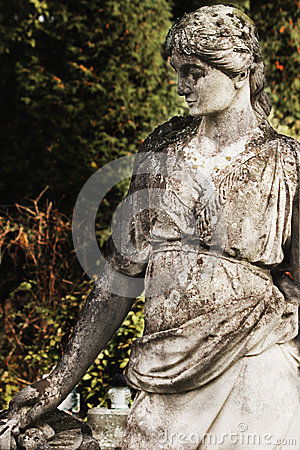 Statua bogini Hera w Greckiej mitologii i Juno w R,