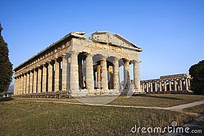 Hera Temple in Paestum, Italy