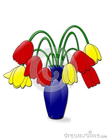 Herabhängende Tulpen