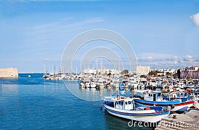 Heraklion port and venetian harbour