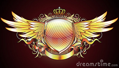 золотистый heraldic экран