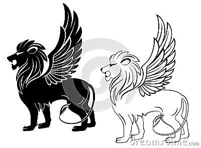 Heraldic львев