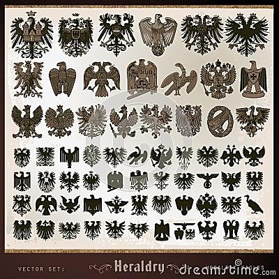 Heraldic elements eagles