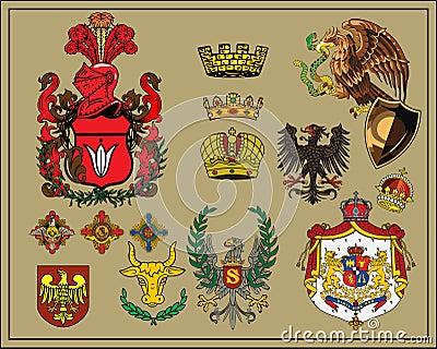 Heraldic elements set 6