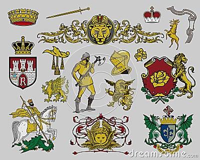 Heraldic elements set 7