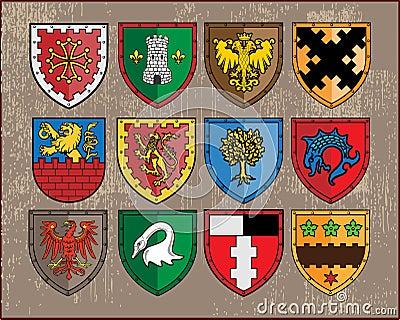 Heraldic elements - shields 1
