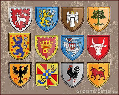 Heraldic elements - shields 2