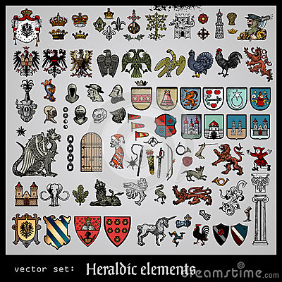 Free Heraldic Elements Various Royalty Free Stock Image - 27807966