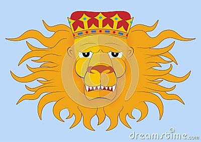 Heraldic lions head