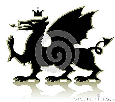Heraldic medieval dragon