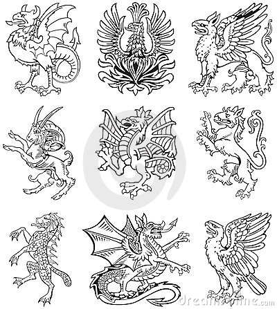Free Heraldic Monster Vol II Stock Image - 20359311