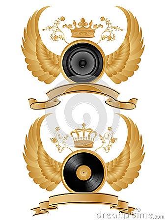 Heraldic music pattern.