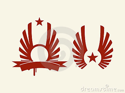 Heraldic red star vector